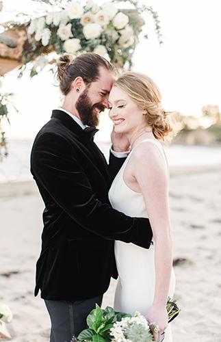 Black Tie Beach Wedding