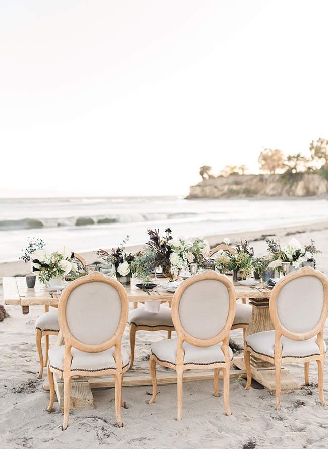 Black Tie Beach Wedding