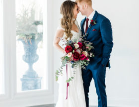 Burgundy and Navy Wedding