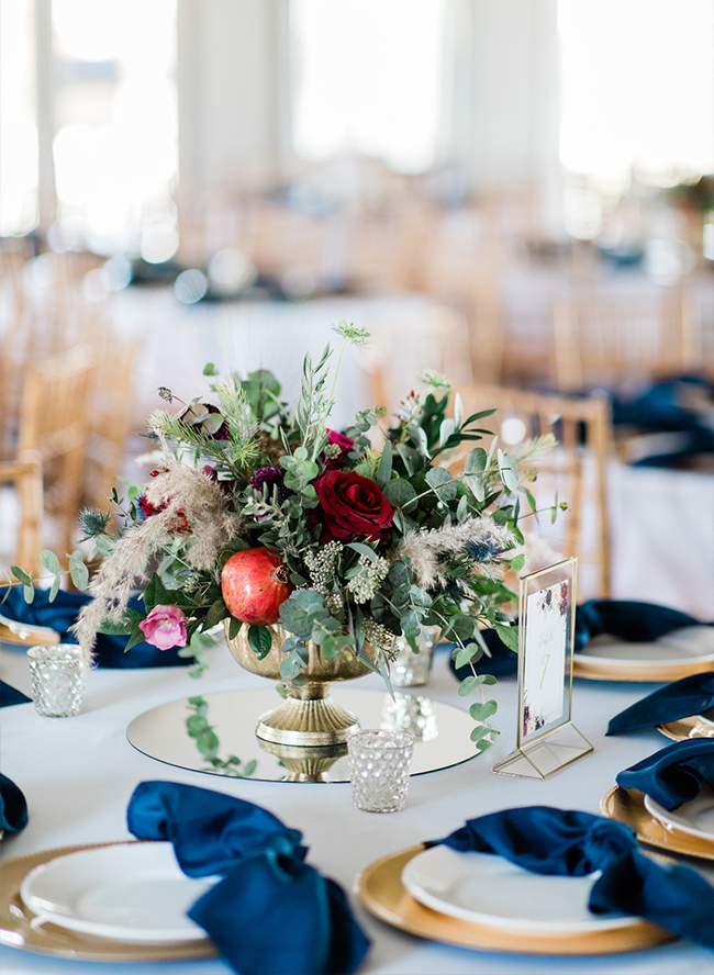 Burgundy and Navy Wedding
