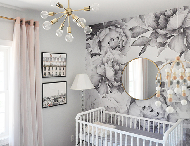 Bold White and Grey Nursery