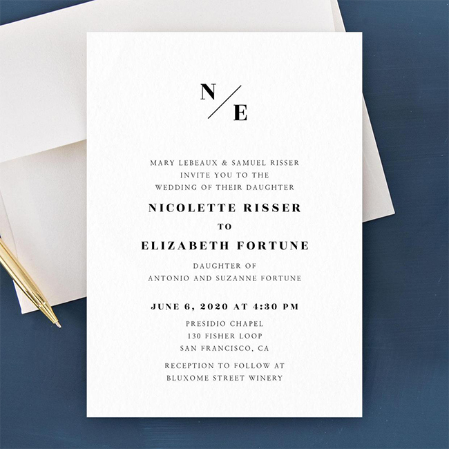 cool wedding invitations