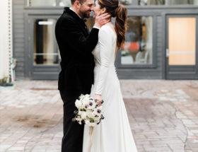 Urban Chic Wedding, white and green wedding