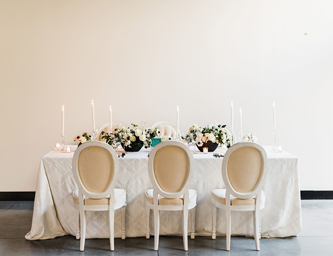 Urban Chic Wedding, white and green wedding