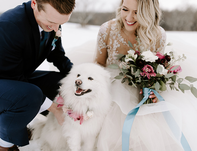 Snowy winter wedding, unique winter wedding ideas