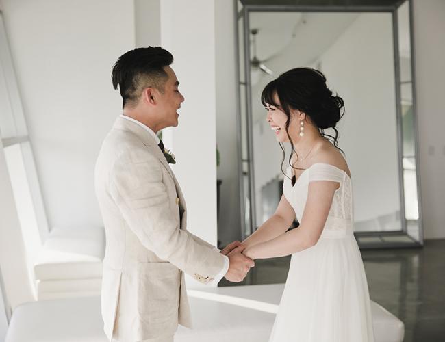 Modern Tropical Wedding