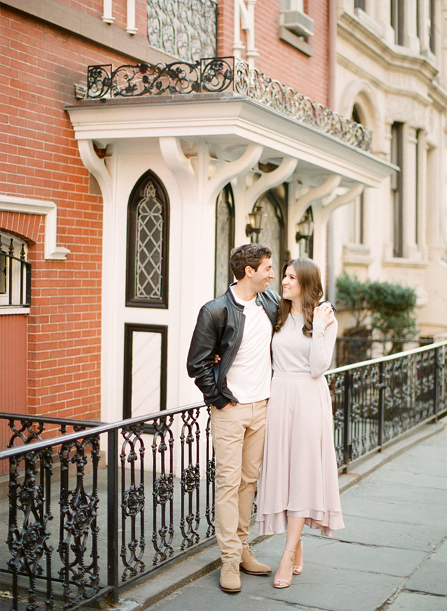 Spring engagement photos, New York City Engagement