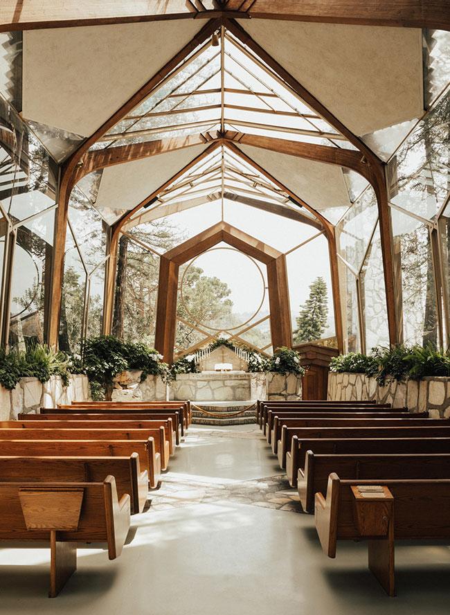 Wayfarers Chapel Wedding.Fairytale Wedding At Wayfarers Chapel Inspired By This
