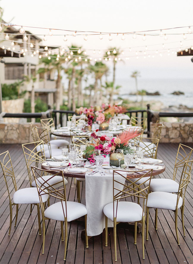 Pink and Green Wedding, Wedding in Los Cabos