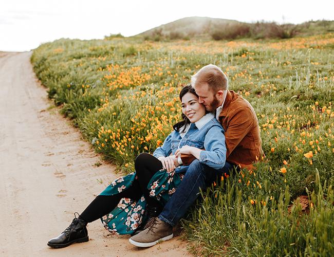 Super Bloom Engagement Photos, Poppy Fields