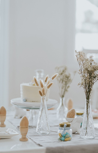 Eco-Friendly Easter Party, Neutral Easter Decor