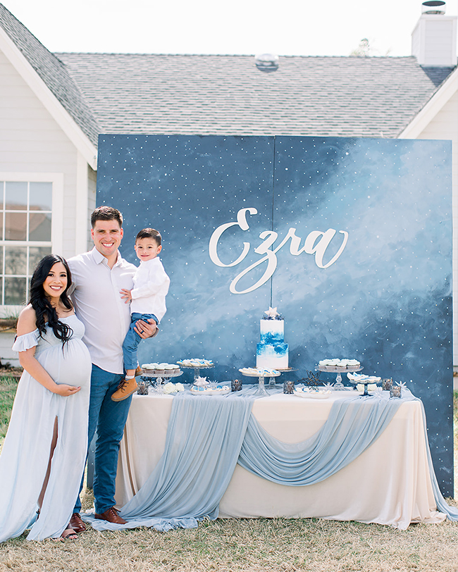 Star Themed Baby Shower, Blue Baby Shower