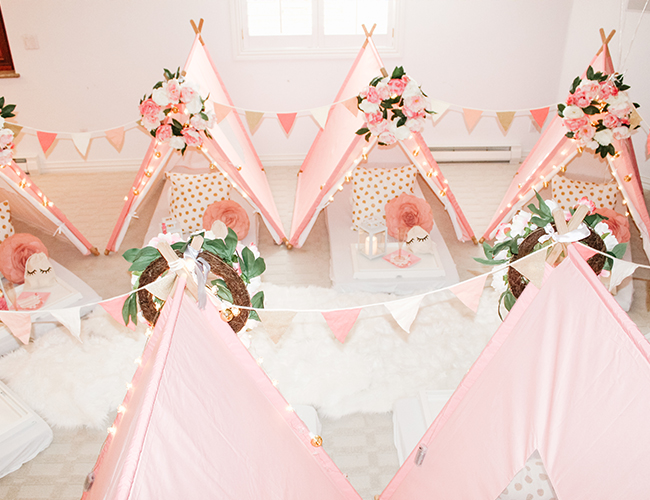Pink Teepee Birthday Party