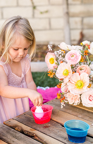 Kids Easter Egg Dying Party, Easter Egg Dying