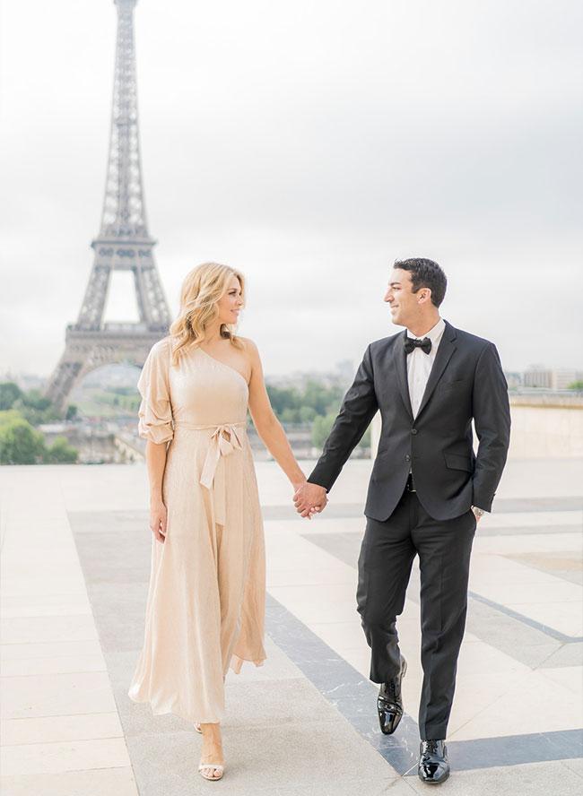 Glam Honeymoon Photoshoot in Paris - Inspired by This