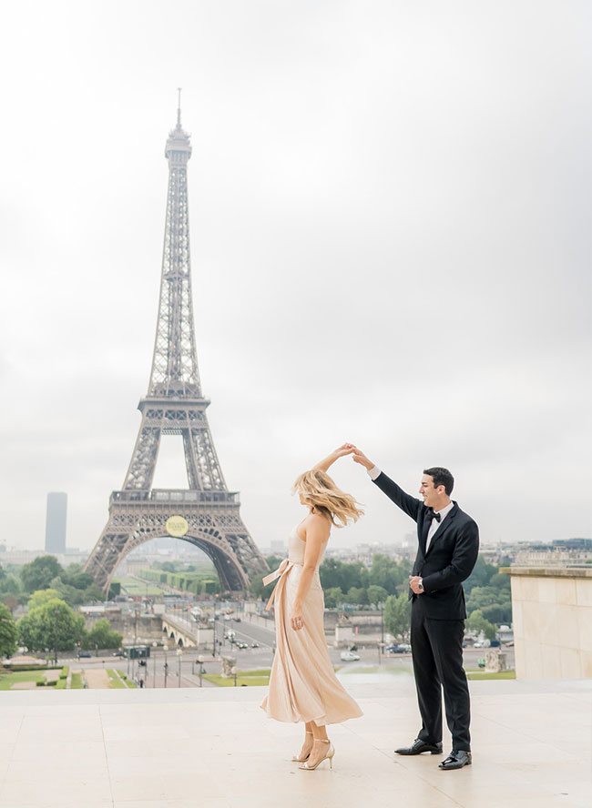 Glam Honeymoon Photoshoot in Paris - Inspired by This