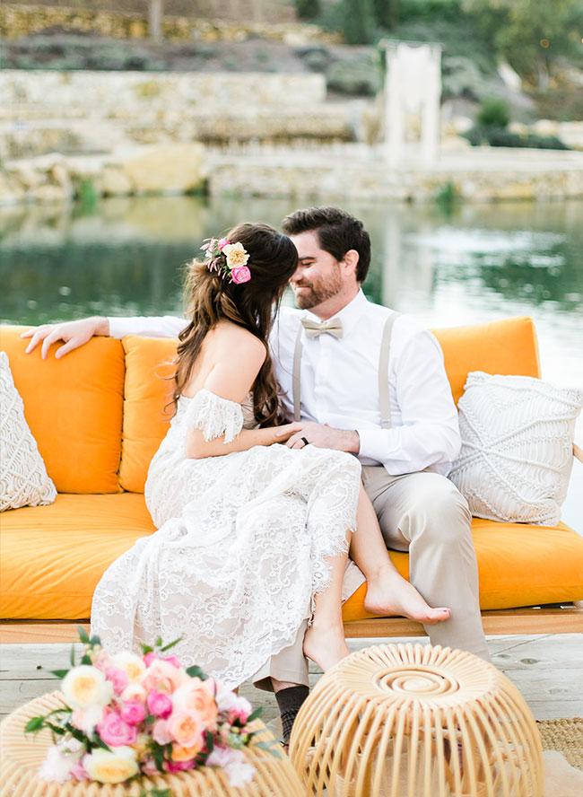 Sunset Wedding, Boho Wedding