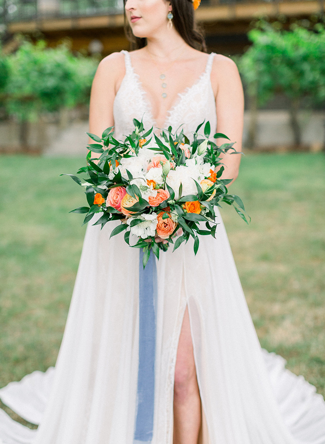 Blue and Orange Wedding, Vista Hills Vineyard Wedding