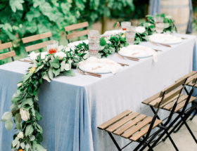 Blue and Orange Wedding, Vista Hills Vineyard Wedding