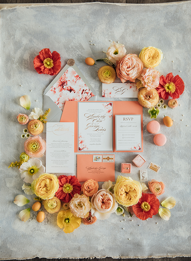 Turquoise and Peach Wedding- Inspired by This
