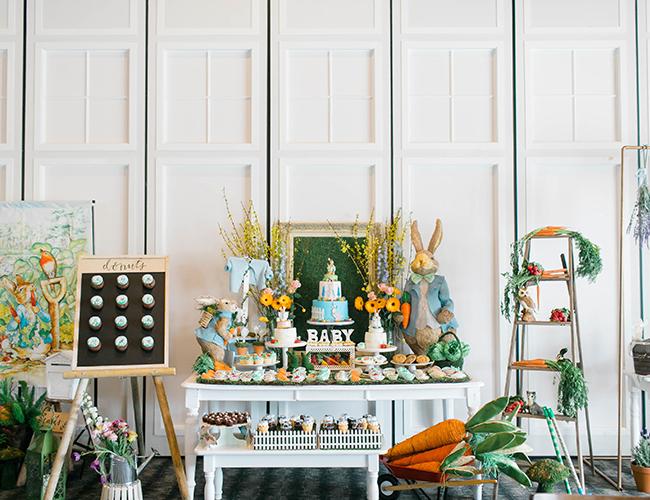Peter Rabbit Baby Shower, Peter Rabbit, Peter Rabbit baby shower decorations