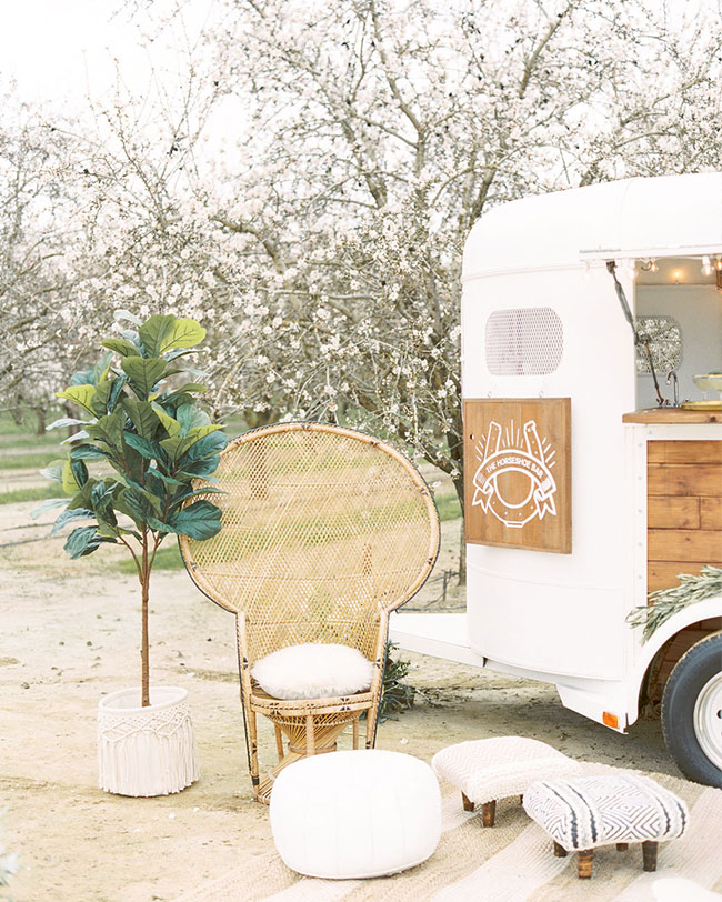 Bridal Inspiration in an Almond Orchard