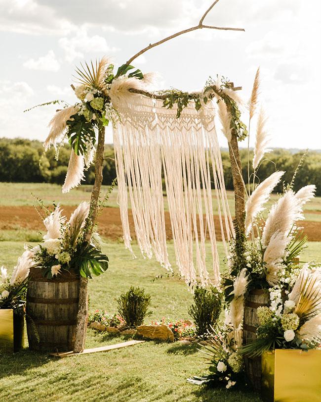 Pampas Grass Wedding, Pampas Grass wedding decor