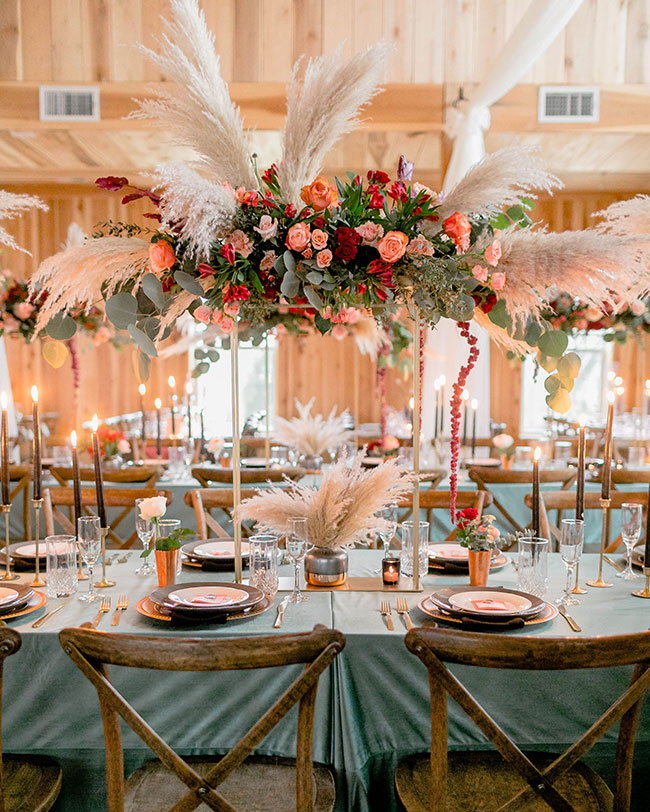 15 Ways To Use Pampas Grass At Your Wedding Inspired By This