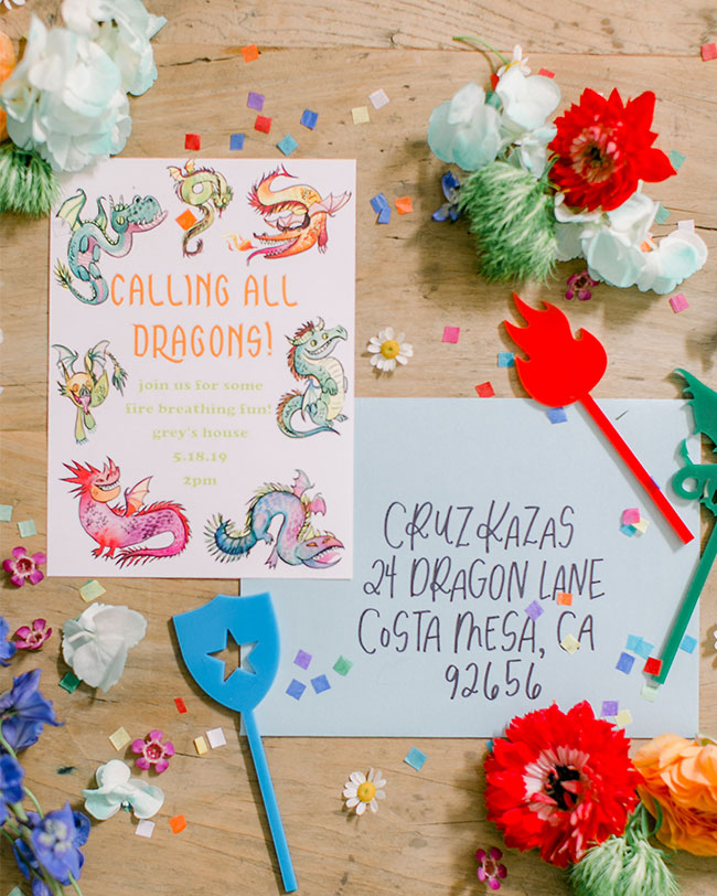 Colorful Kids' Dragon Party, Game of Thrones Party