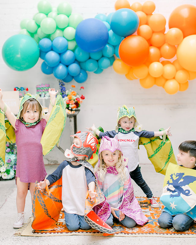 Colorful Kids' Dragon Party