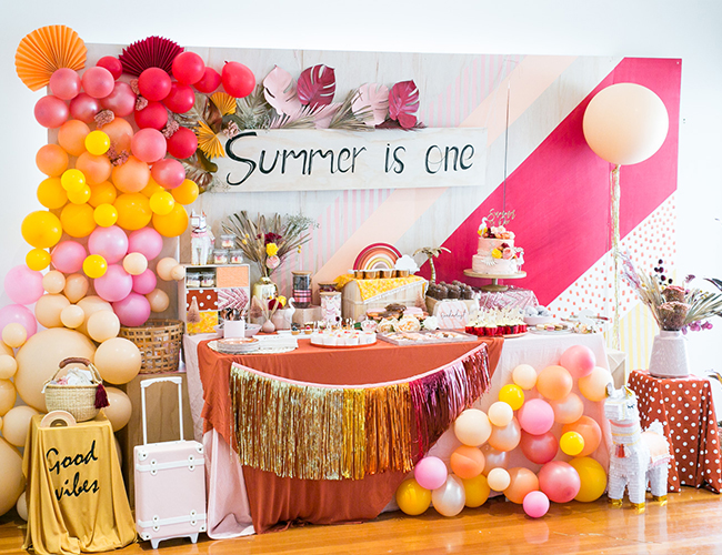 Summer Themed Birthday Party, Alpaca Birthday