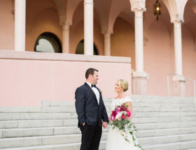 Ringling Museum wedding, Fuchsia Wedding
