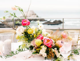 Living Coral Color, Living Coral Wedding Inspiration , Seaside Wedding in San Francisco