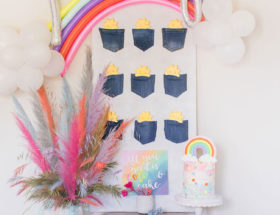 Pockets Full of Sunshine Birthday Party, Colorful Party Themes, Rainbow Birthday Party