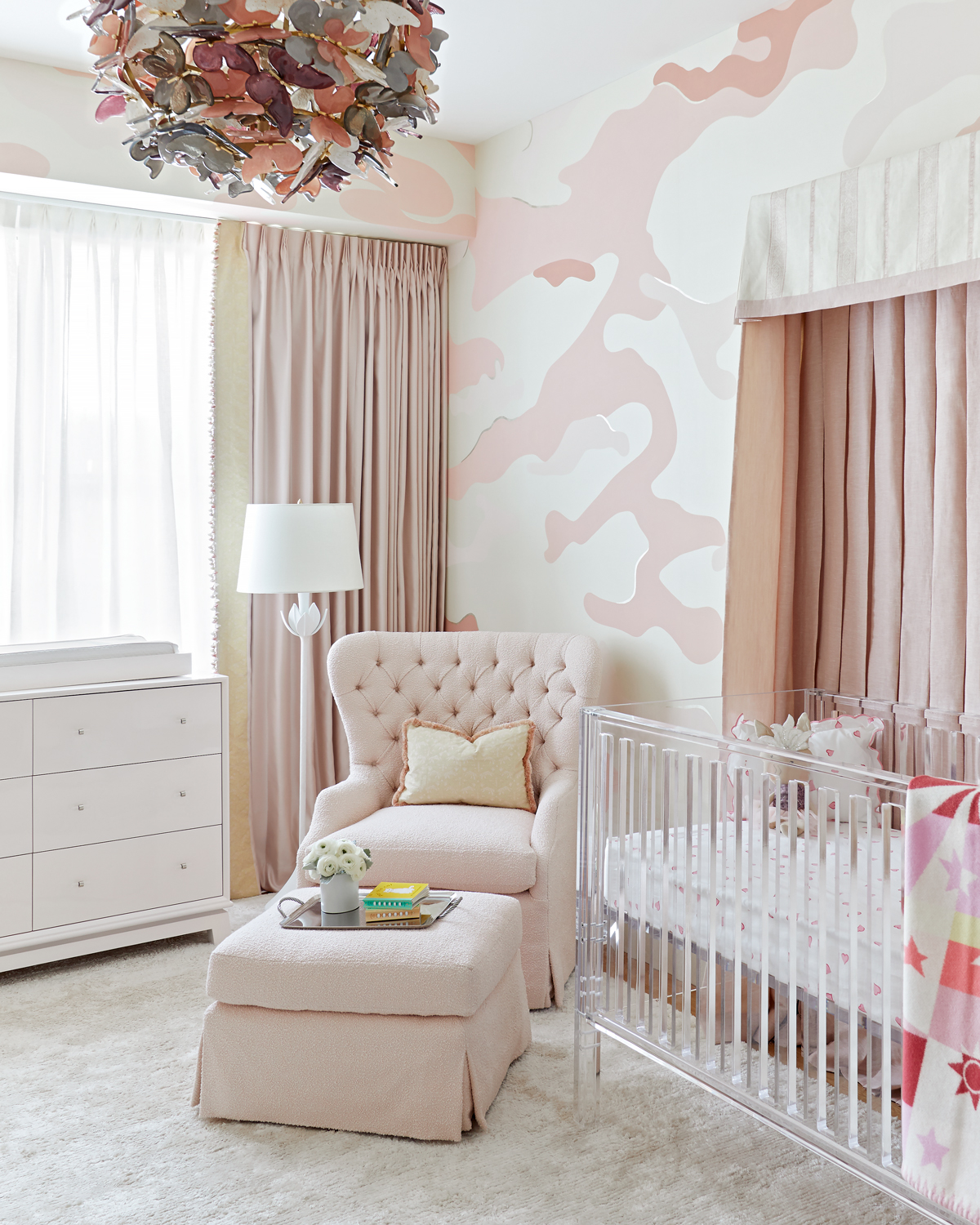 Rose Colored Camouflage Nursery Inspired By This