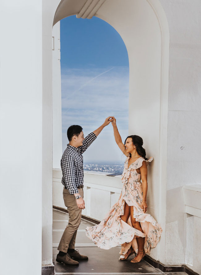 Griffith Observatory Engagement Photos - Inspired by This
