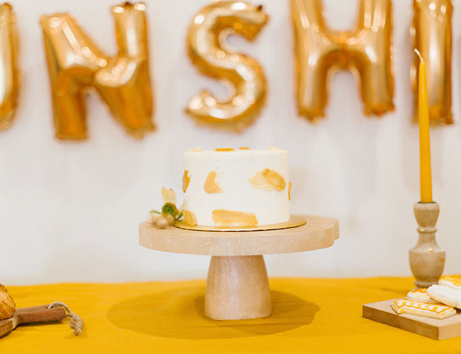 Gold Sunshine Themed Birthday, You Are My Sunshine backdrop, Sunshine Birthday Cake