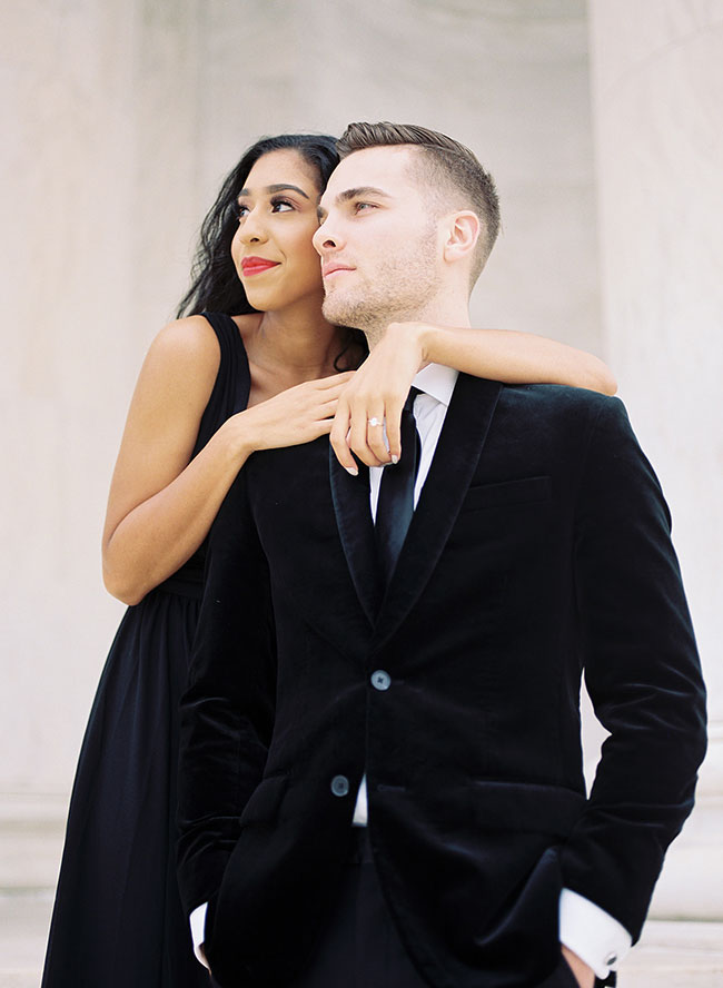 Washington D.C. Engagement Photos at The Jefferson Memorial - Inspired by This