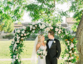 blue garden wedding
