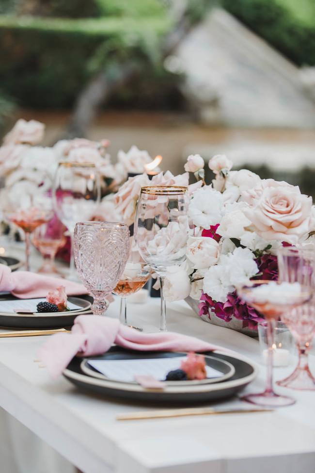 pink modern wedding