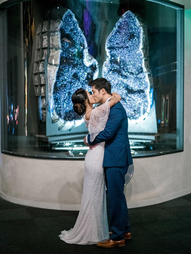 minimal blue wedding