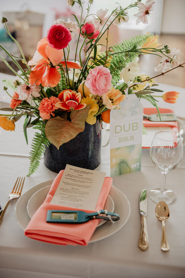 travel inspired bridal shower