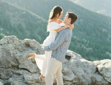 Relaxed Engagement Shoot in the Colorado Mountains - Inspired by This