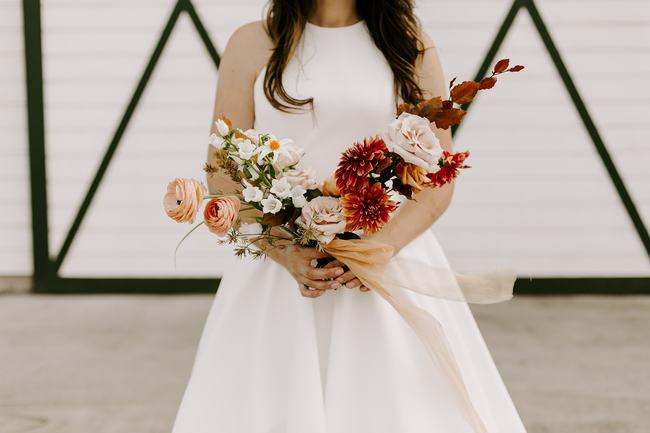 Moody & Minimalist Barn Wedding Inspiration - Inspired by This