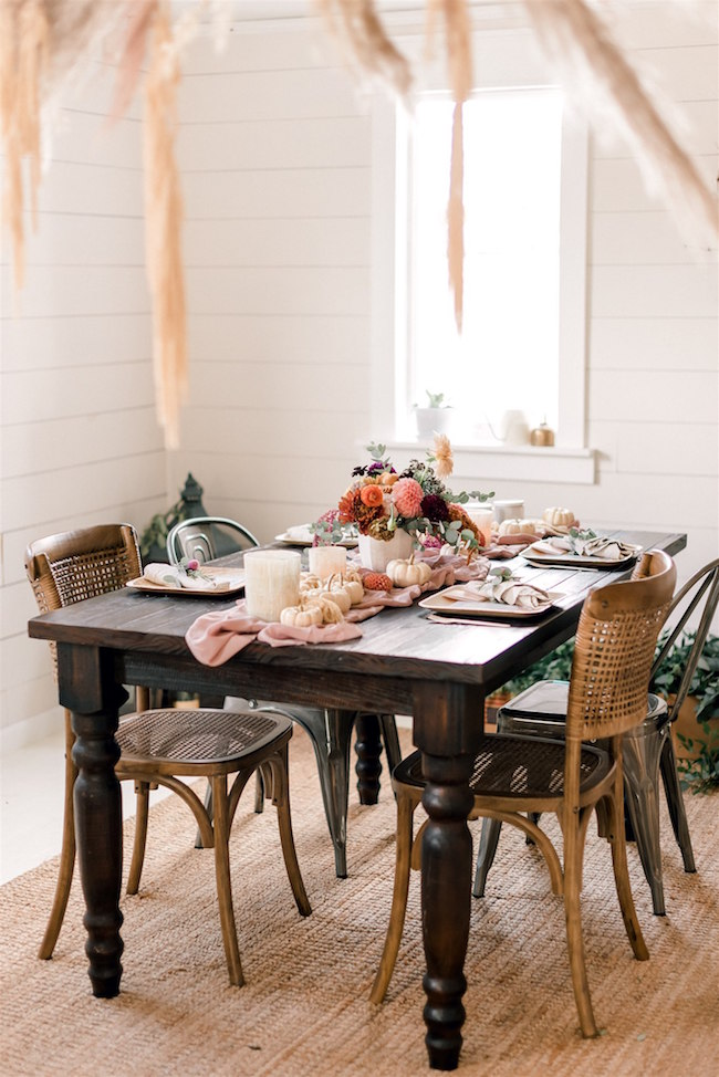 Modern and Feminine Friendsgiving Party