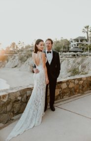 Chic monochromatic wedding in Los Cabos - Inspired by This