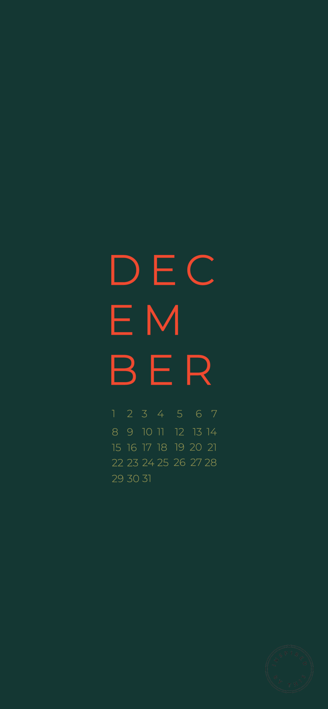 Our Festive December Wallpaper Release Inspired By This